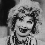 Lucille Ball in Comic Makeup